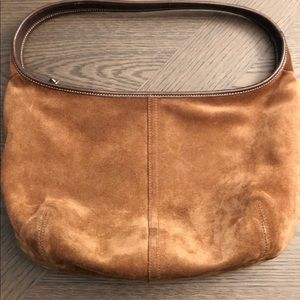 Coach Brown Suede Shoulder Bag